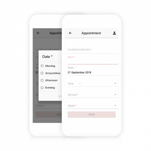 Customers can book appointments by using your own appointment app