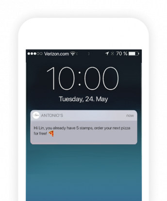 Sending promotions as push notifications via your delivery service app